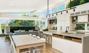Ayindi - kitchen to living area