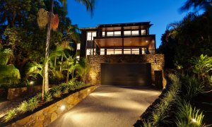 Ayana Byron Bay - front by night
