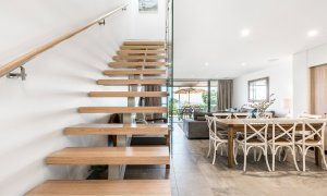 11 James Cook - Byron Bay - Open Plan Living and Stairs to Bedrooms