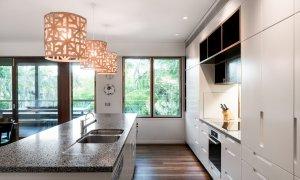 Ayana Byron Bay - kitchen and lights