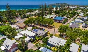 Aaloka Bay - Byron Bay - Aerial Image towards Cape Byron c