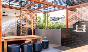Adam and Eve - Brisbane - Common Area Pizza Oven b