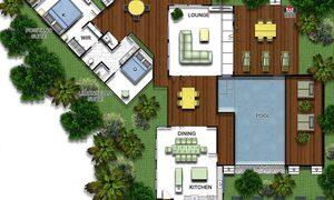 Amalfi Villa - Byron Bay - Floor Plan