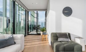 Axel Apartments - The Clarke - Glen Iris - Living towards Balcony