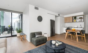 Axel Apartments - The Clarke - Glen Iris - Living, Dining and Kitchen