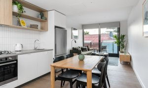Axel Apartments - The Grove - Glen Iris - Kitchen Dining and Living