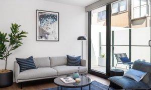 Axel Apartments - The Parkin - Glen Iris - Living Looking to Balcony