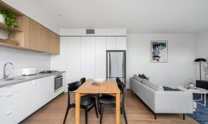 Axel Apartments - The Radnor - Glen Iris - Kitchen, Dining and Living