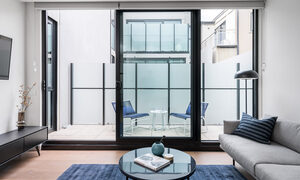 Axel Apartments 103 The Hadley - Glen Iris - Lounge and Balcony c