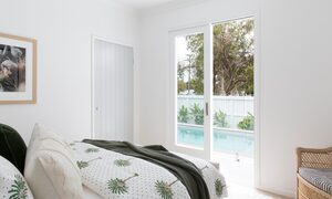 Barrel and Branch - Byron Bay - queen bedroom overlooking pool