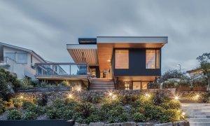 Bay Rock House - Byron Bay - Rear View at Dusk