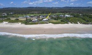 Belongil on The Beach - Byron Bay - Aerial Towards House