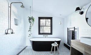 Bennys Cottage - Byron Bay - Real Living Shoot Bathroom with Bath b
