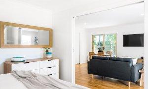 Boulders Retreat - Lennox Head - Master Bedroom Towards Living Area
