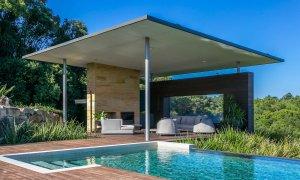Callistemon View - Byron Bay Hinterland - Federal - infinity pool cabana