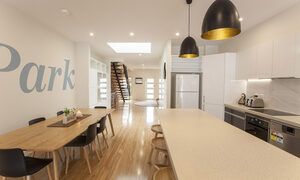 Central Park - South Melbourne - Dining and Kitchen Area