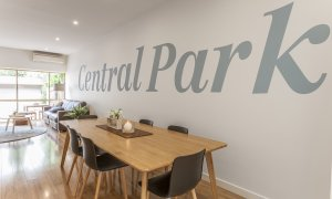 Central Park - South Melbourne - Dining and Living Area