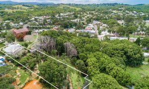 Charlottes Web - Byron Bay - Aerial Bangalow Path to Town