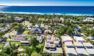Clique 3 - Byron Bay - Aerial Towards Beach