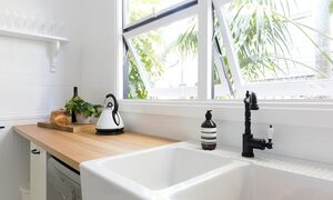 Collective Retreat - Kitchen bench and sink