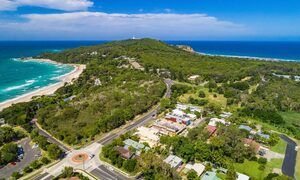 Cooinda - Byron Bay - Aerial Clarkes Beach and The Pass Toward Lighthouse