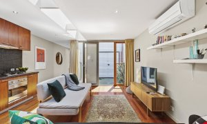 Curran Terrace - North Melbourne - Living and Kitchen Looking Onto Central Outdoor Space