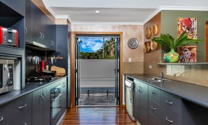 Jannah - Lennox Head - kitchen to pool