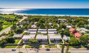 Kaylani Cove - Byron Bay - Aerial Towards Beach Outline