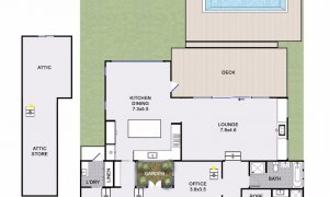 Kia Ora - Byron Bay - Floorplan