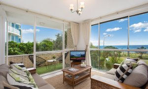 King Tide - Broadbeach - Living area with balcony