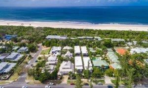 Kokos Beach Houses - Byron Bay - Aerial Towards Ocean