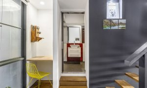 Loft on Rose - Fitzroy - Study Space and Bathroom