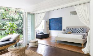 Mahalo House - Byron Bay - Entertaining Deck Looking Into Bedroom 5