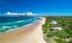 Moonstruck - Byron Bay - Aerial Towards Cape Byron