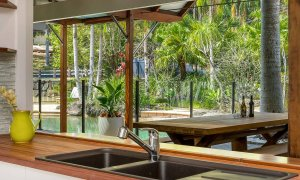 Rockinghorse House - Byron Hinterland - Kitchen view outdoors
