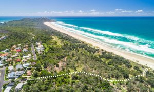 Sea Salt - Byron Bay - Aerial Tallows Beach Towards Cape Byron