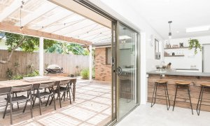 Sea Salt - Byron Bay - Kitchen Looking To Outdoor Entertaining Area