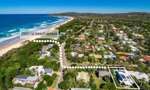 Shore Beats Work - Byron Bay - Aerial Towards Broken Head Outline