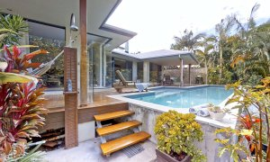 Sunnyside Up - Byron Bay - Pool Area Looking to Rear of House b
