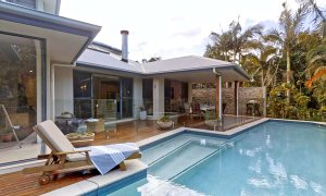 Sunnyside Up - Byron Bay - Pool Area Looking to Rear of House
