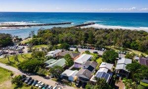 Sunset Beach - Brunswick Heads - Aerial Looking Northeast