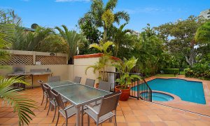 Sunset In Surfers - Gold Coast - Shared Pool BBQ Area