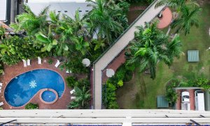 Surf Moon - Surfers Paradise - Aerial View Shared Pool