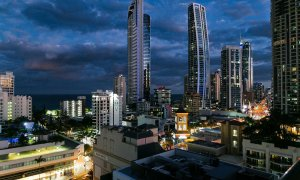 Surf Moon - Surfers Paradise - Twilight View South-East