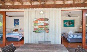 The Hawk - Wategos Byron Bay - Downstairs Outdoor Living Area towards Bedrooms