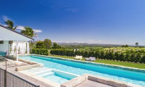Villa St Helena - Byron Bay - Pool Towards Hinterland