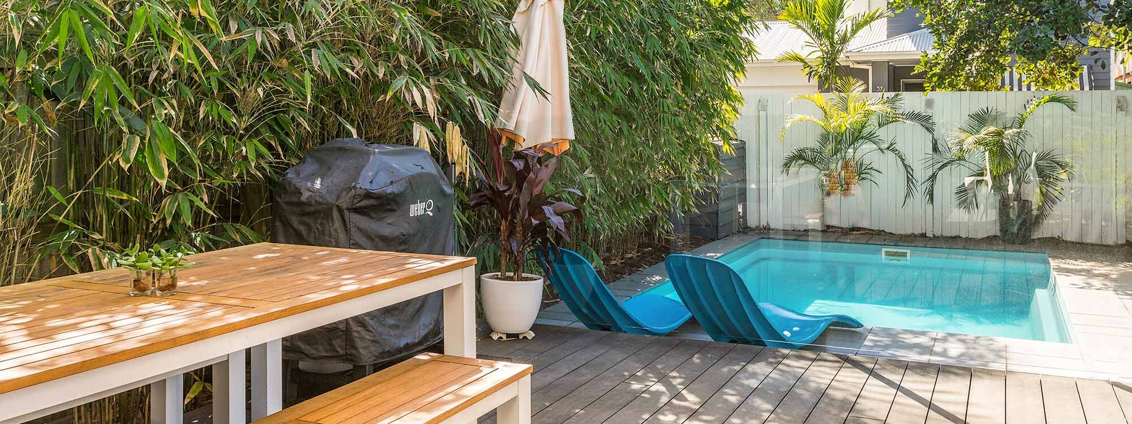Aaloka Bay - Byron Bay - Pool and outdoor dining