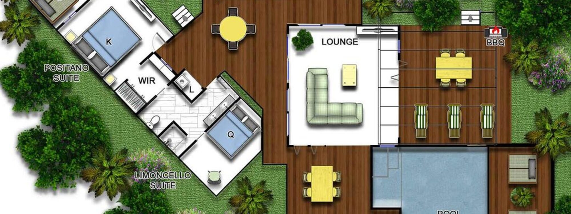 Amalfi Villa - Byron Bay - Floor Plan