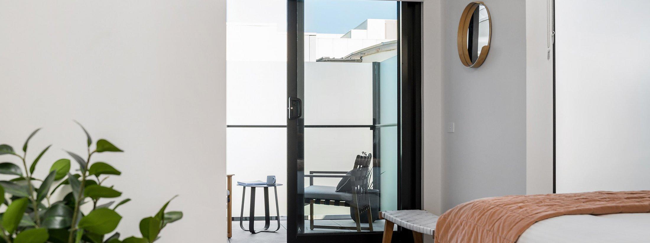 Axel Apartments 203 The Bonfield - Glen Iris - Master bedroom towards balcony