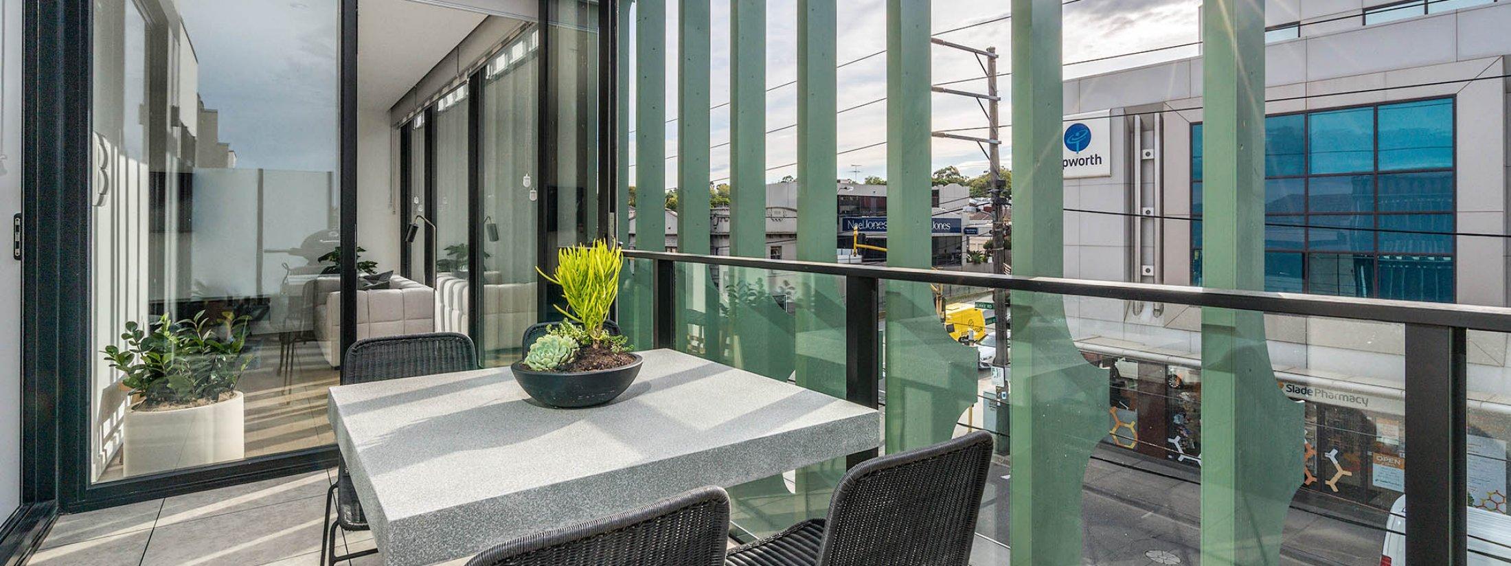 Axel Apartments - The Clarke - Glen Iris - Balcony